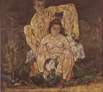 Egon Schiele  - Bilder Gemälde - The Family
