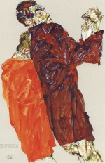 Egon Schiele  - Bilder Gemälde - The Truth was Revealed
