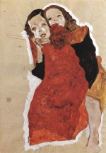 Egon Schiele  - Bilder Gemälde - Two Girls