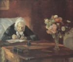 Anna Ancher - Peintures - Ane Hedvig Brondum assis à la table