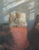 Anna Kristine Ancher - paintings - Ave Hedvig Bronum in der blauen Stube