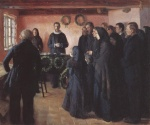 Anna Ancher - Peintures - Un enterrement