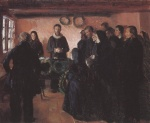 Anna Ancher - Peintures - Enterrement
