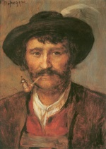 Franz von Defregger - paintings - Bauernportrait
