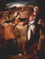 Angelo Bronzino - paintings - Noli me tangere