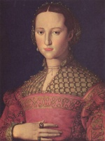 Angelo Bronzino - paintings - Portrait der Eleonora von Toledo