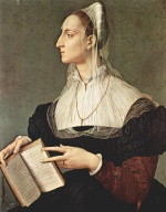 Angelo Bronzino - paintings - Portrait der Laura Battiferri