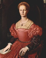 Angelo Bronzino - paintings - Portrait der Lucrezia Panciatichi