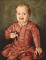 Angelo Bronzino - paintings - Portrait von Giovanni de Medici als Kind