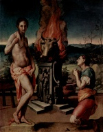 Angelo Bronzino - paintings - Pygmalion und Galathea
