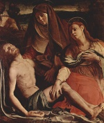 Angelo Bronzino - paintings - Toter Christus, Maria und Maria Magdalena