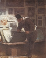 Honoré Daumier - paintings - Der Grafikliebhaber