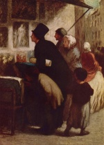 Honoré Daumier - paintings - Der Kupferstichhaendler