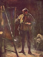 Honoré Daumier - paintings - Der Maler vor der Staffelei
