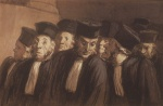 Honoré Daumier - paintings - Die Anwaelte