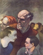 Honoré Daumier - paintings - Die Familie der Barrikade