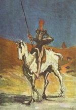 Honoré Daumier - paintings - Don Quichotte und Sancho Pansa