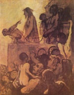 Honoré Daumier - paintings - Ecce homo