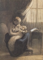 Honoré Daumier - paintings - Eine Mutter