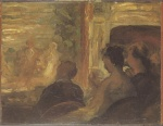 Honoré Daumier - paintings - Eine Theaterloge