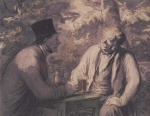 Honoré Daumier - paintings - Gute Freunde
