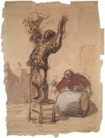 Honoré Daumier - paintings - Hanswurst