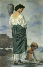 Anselm Feuerbach - paintings - Am Strande