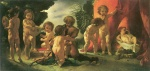 Anselm Feuerbach - paintings - Kinderstaendchen