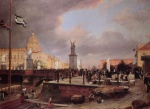 Eduard Gaertner - paintings - Berliner Schlossbruecke