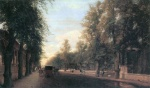 Eduard Gaertner - paintings - Berliner Strasse in Charlottenburg