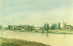 Eduard Gaertner - paintings - Borsigwerke in Moabit