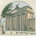 Eduard Gaertner - paintings - Brandenburger Tor
