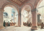 Eduard Gaertner - paintings - In der Peterskirche auf dem Petersberg bei Halle