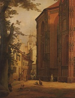Eduard Gaertner - paintings - Katharinenkirche in Brandenburg an der Havel