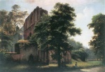Eduard Gaertner - paintings - Klosterruine Lehnin