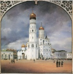 Eduard Gaertner - paintings - Panorama vom Kreml in Moskau