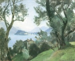 Edmund Friedrich Kanoldt - paintings - Block von Bellagio auf Menaggio