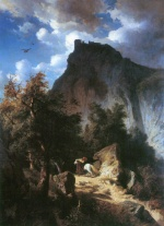 Edmund Friedrich Kanoldt - paintings - Canossa