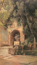 Edmund Friedrich Kanoldt - paintings - Villa dEste in Tivoli