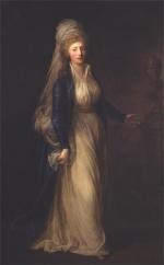 Anton Graff - Bilder Gemälde - Portrait of Princess Louise Augusta of Denmark
