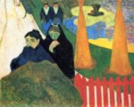 Paul Gauguin - paintings - Women from Arles in the Public Garden, the Mistral