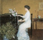 Childe Hassam - paintings - Am Piano