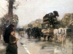 Childe Hassam - paintings - Aprilregen, Champs Elysees Paris