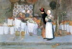 Childe Hassam - paintings - Beim Floristen