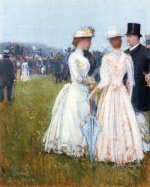 Childe Hassam - paintings - Beim Grossen Preis in Paris