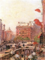 Childe Hassam - paintings - Blick auf Broadway und Fifth Avenue