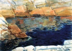 Childe Hassam - paintings - Blick in den Beryl Teich