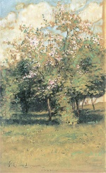 Childe Hassam - paintings - Blühende Bäume