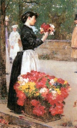Childe Hassam - paintings - Blumenmädchen