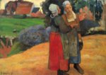 Paul Gauguin - paintings - Two Breton Women on the Road
